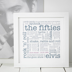 Personalised 1950s 60th birthday print