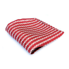 Silk pocket square in red bike chain