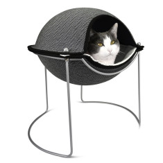 Hepper pod cat bed in herringbone