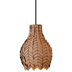 Pod luxe leather pendant light