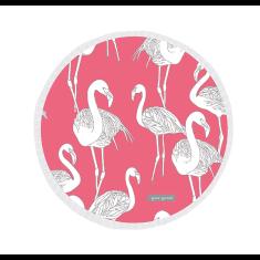 Flamingos Large Luxury Round Beach Towel