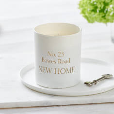 Glow Through Personalised New Home Candle