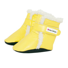 Baby boots in yellow