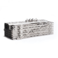 MONUmini stainless steel architecture model of Pompidou Centre