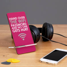 Hand Over The Wifi Password Phone Stand