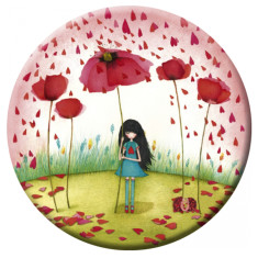 Poppy umbrella pocket mirror