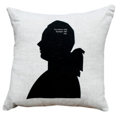 Portrait cushion cover