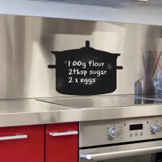 Chalkboard cooking pot wall sticker