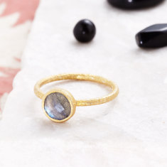 Cupcake Smaller Ring With Labradorite
