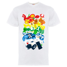 Men's power up white t-shirt