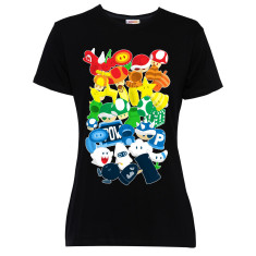 Powerup women's black t-shirt