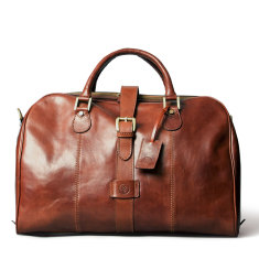 Farini Personalised Leather Cabin Sized Luggage Bag