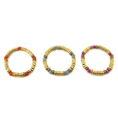 Golden candy bracelet (various colours)