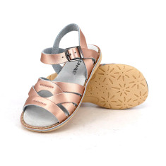 Kids' coast leather sandals in rose gold