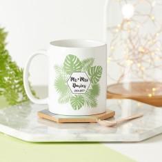Personalised Tropical Couples Mug