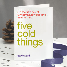 Five Gold Rings Funny Christmas Card