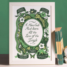 The Jungle Book, Famous Quotes Print