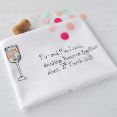 Personalised Couple's Prosecco Tea Towel