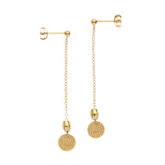 Frida coin earrings in yellow gold