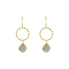 Smokey hoop earrings