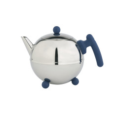 Bredemeijer Bella Ronde teapot with blue or black trim
