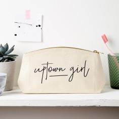 Uptown Girl Slogan Pouch
