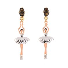 Ballerina Earrings - Silver