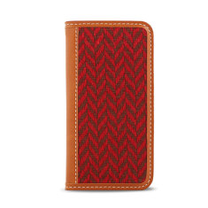 Tweed case in red tartan check for iPhone 6 or 6 plus