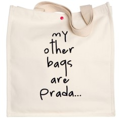 My other bags are Prada Large Canvas Tote