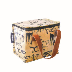 Insulated lunch box bag in pretty much print