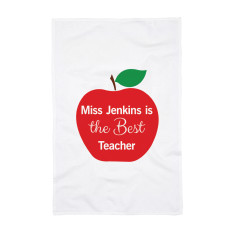 Personalised Teacher's Apple Tea Towel
