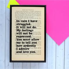 Pride and Prejudice romantic booklover gift