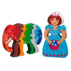 Princess and elephant jigsaw value pack