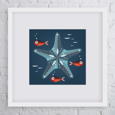 Born star fish art print