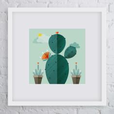 Survivor cactus art print