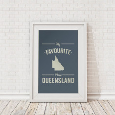 My favourite place Queensland framed print