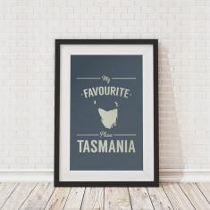 My favourite place Tasmania framed print