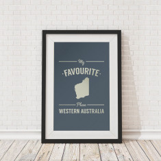 My favourite place Western Australia framed print