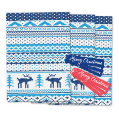 Nordic knit Christmas giftwrap & tags pack