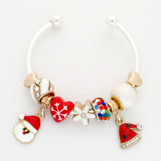 Childrens' Christmas charm bangle