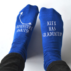 Adventure Awaits Personalised Graduation Socks