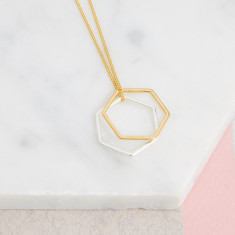 Hexagon Rings Necklace