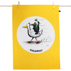 Quackamole tea towel