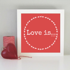 Framed romantic love art print