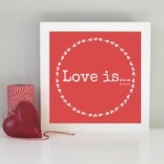 Framed romantic love art print