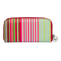 Zip wallet in Selma Stripe print