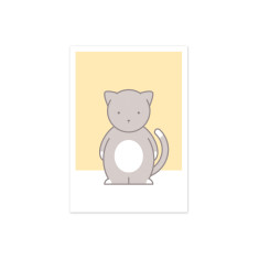 Chloe Cat Nursery Art Print
