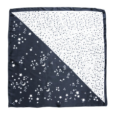 Starry Eyed Silk Scarf in Midnight Blue