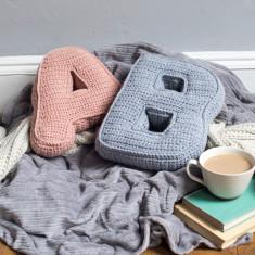 Crochet Initial Cushion