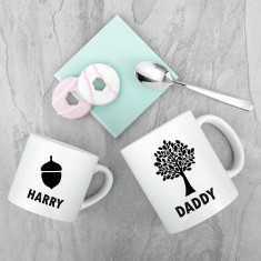 Personalised Daddy & Me Acorn Mugs